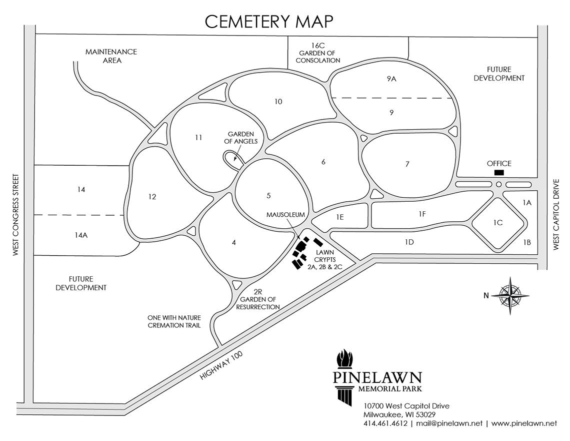 Cemetery Map Pinelawn Memorial Park